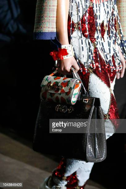 Bag detail at the Gucci show during Paris Fashion Week Spring/Summer 2019 on September 24 2018 in Paris France