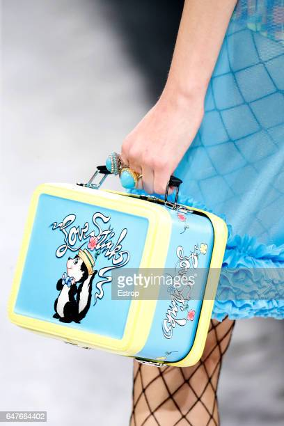 Bag detail at the Jeremy Scott show during the New York Fashion Week February 2017 collections on February 10 2017 in New York City