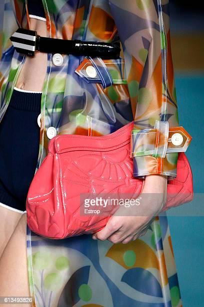 Bag detail at the Miu Miu show as part of the Paris Fashion Week Womenswear Spring/Summer 2017 on October 5 2016 in Paris France