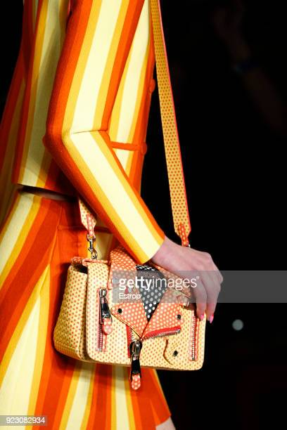 Bag detail at the Moschino show during Milan Fashion Week Fall/Winter 2018/19 on February 21 2018 in Milan Italy