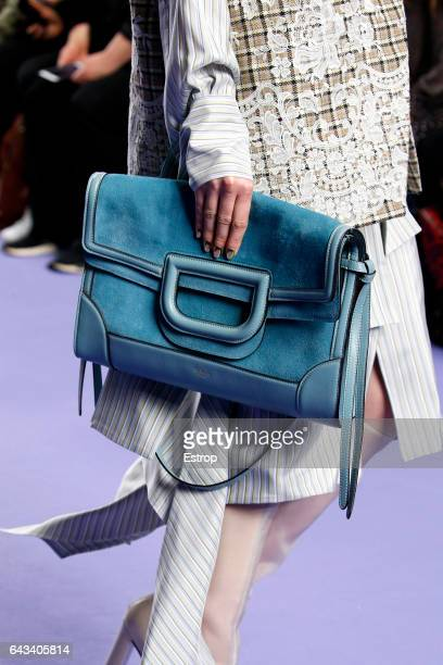 Bag detail at the runway during Mulberry designed by Johnny Coca show at the London Fashion Week February 2017 collections on February 19 2017 in...