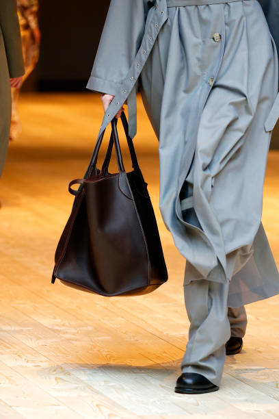A Bag Detail At The Runway During Celine Show As Part Of Paris Fashion