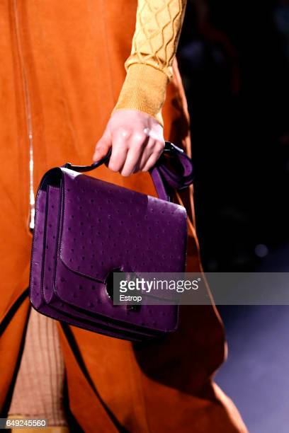 Bag detail at the runway during the Hermes show as part of the Paris Fashion Week Womenswear Fall/Winter 2017/2018 on March 6 2017 in Paris France