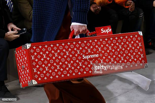 Bag detail at the runway during the Louis Vuitton Menswear Fall/Winter 20172018 show as part of Paris Fashion Week on January 19 2017 in Paris France