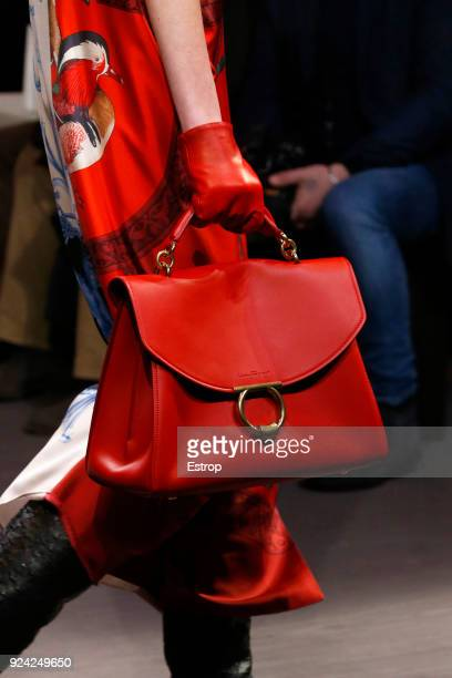 2735a7207a Bag detail at the Salvatore Ferragamo show during Milan Fashion Week Fall Winter  2018