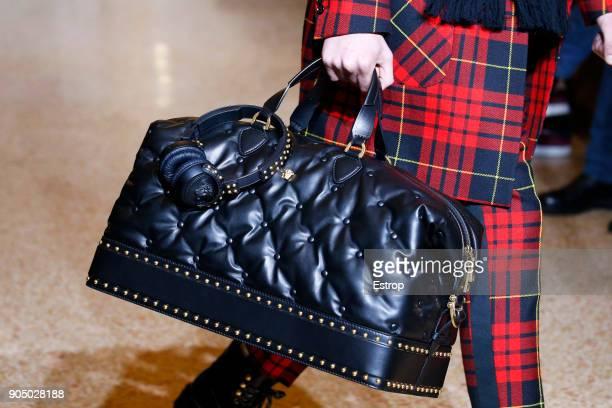 Bag detail at the Versace show during Milan Men's Fashion Week Fall/Winter 2018/19 on January 13 2018 in Milan Italy