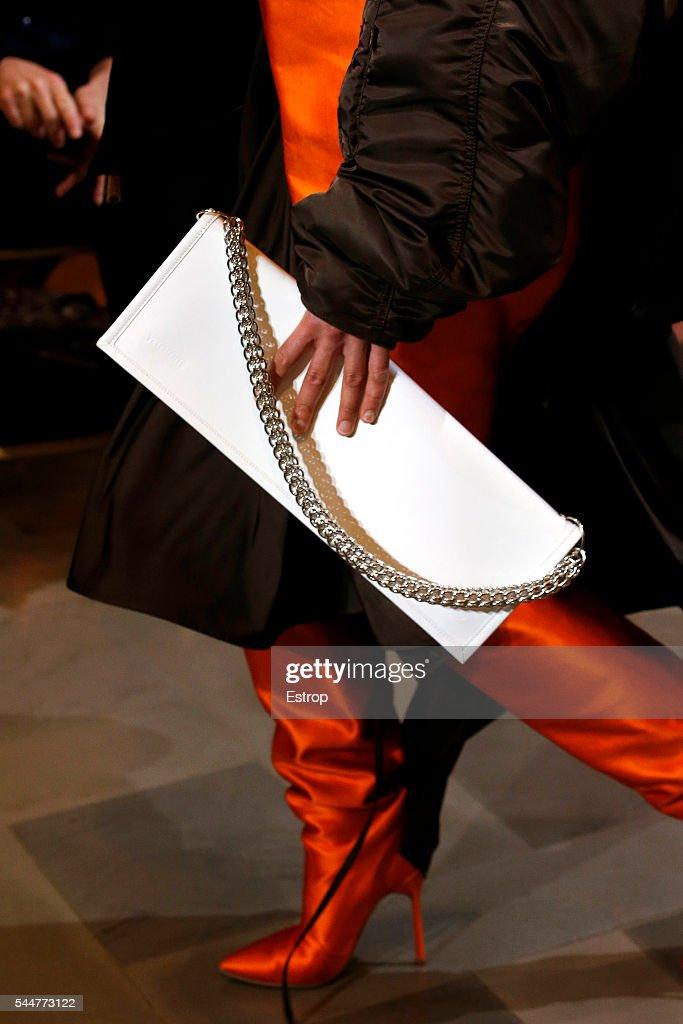 Vetements : Details - Paris Fashion Week - Haute Couture Fall/Winter 2016-2017 : News Photo