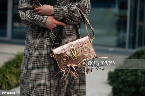 Bag detail during Milan Fashion Week Fall/Winter 2018/19 on February 25 2018 in Milan Italy