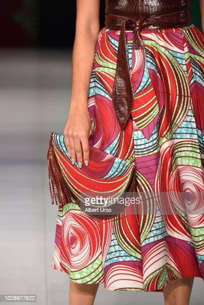 A bag detail during Society Fashion Week Lady Mariama at The Roosevelt Hotel on September 7 2018 in New York City
