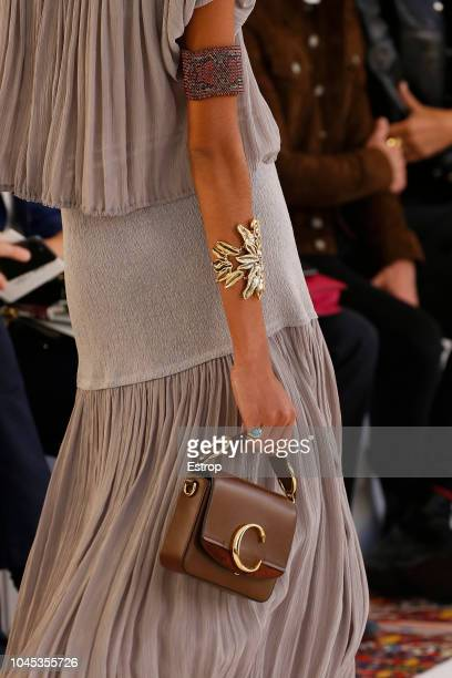 Bag detail during the Chloe show as part of the Paris Fashion Week Womenswear Spring/Summer 2019 on September 27 2018 in Paris France