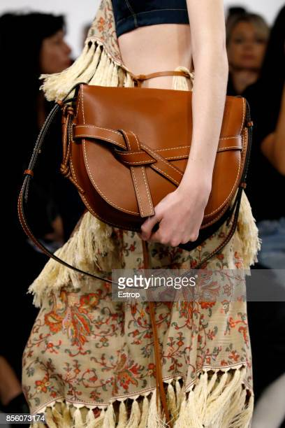 Bag Detail during the Loewe show as part of the Paris Fashion Week Womenswear Spring/Summer 2018 on September 29 2017 in Paris France