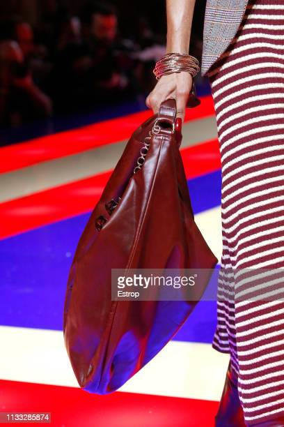 Bag detail during the Tommy Hilfiger TOMMYNOW Spring 2019 TommyXZendaya Premieres at Theatre des ChampsElysees on March 2 2019 in Paris France