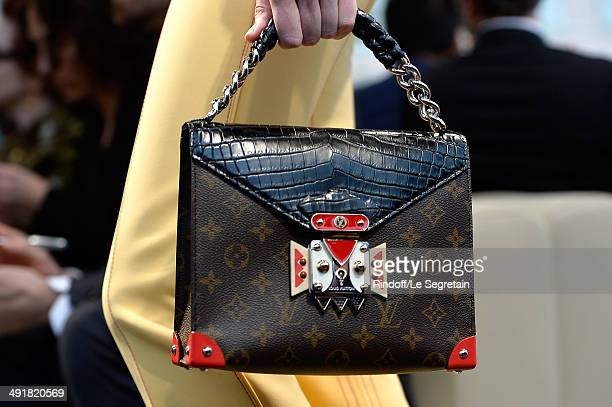 A bag detail is seen as a model walks the runway during the Louis Vuitton Cruise Collection Show 2015 at Palais Princier on May 17 2014 in MonteCarlo...