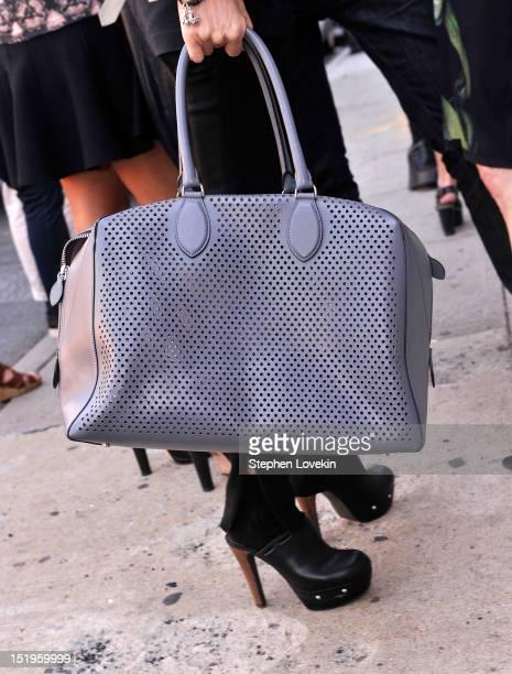 Bag detail of designer Vera Wang as she attends the Brood by Serkan Sarier Spring 2013 fashion show during MercedesBenz Fashion Week at Lori...