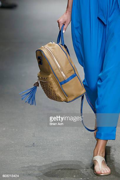 Bag detail on the runway during Jody Bell's show at Nolcha Shows New York Fashion Week Women's S/S 2017 at ArtBeam on September 12 2016 in New York...