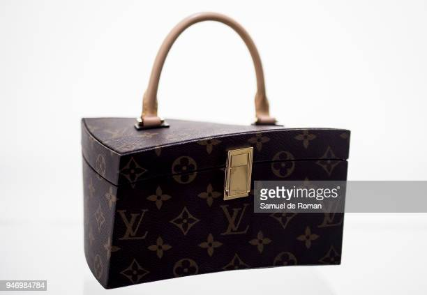 A bag displayed during 'Time Capsule' by Louis Vuitton Exhibition on April 16 2018 in Madrid Spain