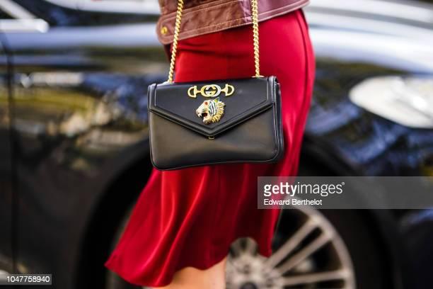 A bag is seen outside Altuzarra during Paris Fashion Week Womenswear Spring/Summer 2019 on September 29 2018 in Paris France