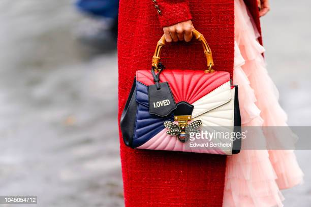 A bag is seen outside Chanel during Paris Fashion Week Womenswear Spring/Summer 2019 on October 2 2018 in Paris France