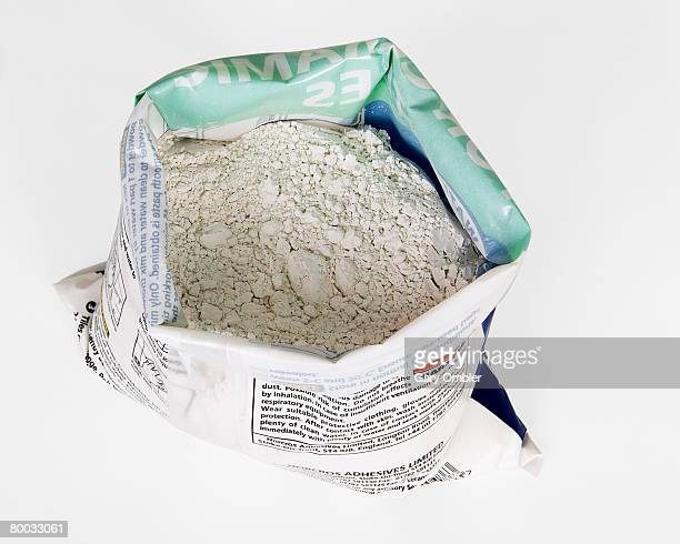 Bag of adhesive and grout
