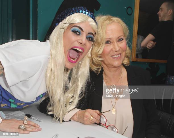 Bag of Chips aka Leon Le Ron and and Agnetha Faltskog of ABBA makes a public appearance at GAY on May 4 2013 in London England