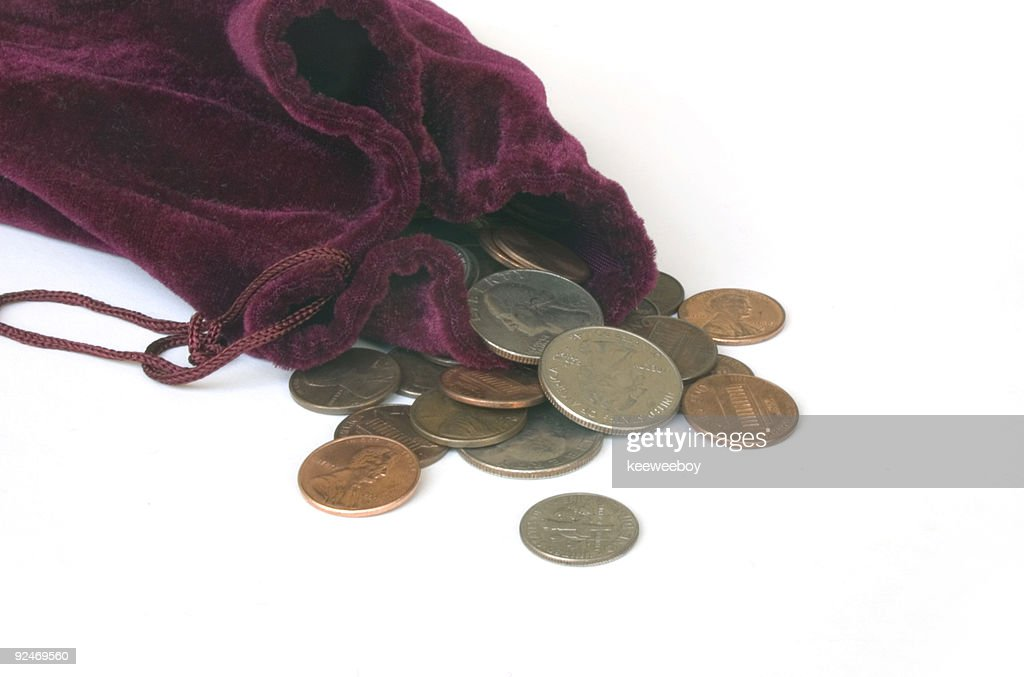 Bag Of Coins Stock Photo - Getty Images