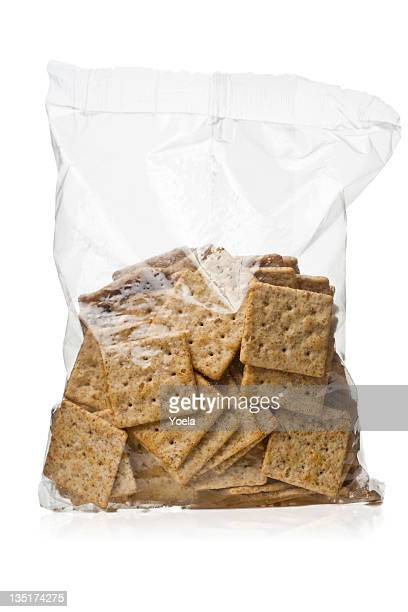 bag of crackers - cracker snack stock photos and pictures