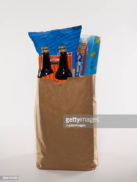 Bag of junk food groceries