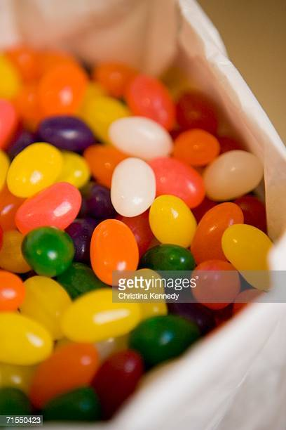 Bag of multi colored jelly beans