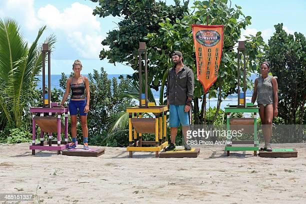 'Bag of Tricks' Jefra Bland LJ McKanas and Latasha 'Tasha' Fox during the eighth episode of SURVIVOR CAGAYAN Wednesday April 16 on the CBS Television...
