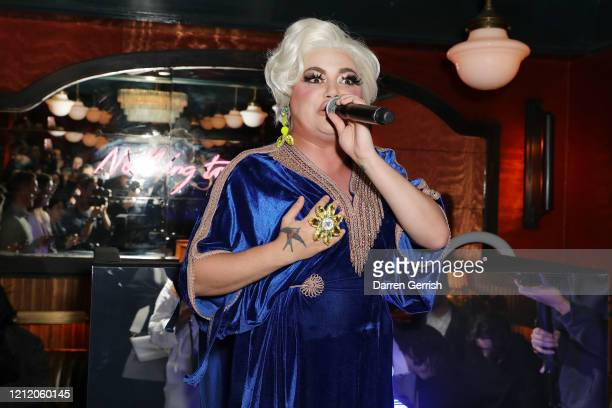 Baga Chipz performs as Jonathan Anderson and Jenny Galimberti celebrate the opening of the new JW Anderson Soho on March 01 2020 in London United...