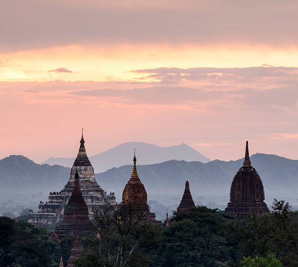 Bagan, ancient temple at sunrise