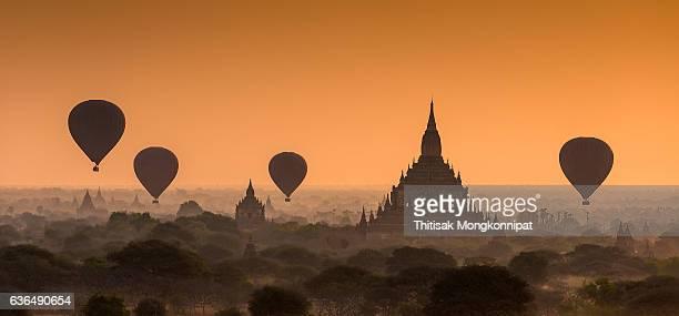 Bagan on sunrise Burma, Myanmar