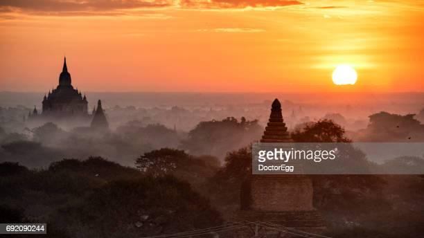 Bagan Pagoda at Sunrise, Myanmar