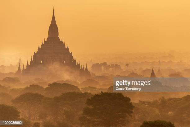 Bagan stupas at dawn