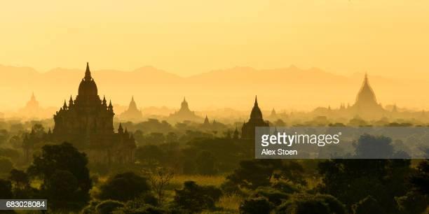 Bagan Temples at Sunrise