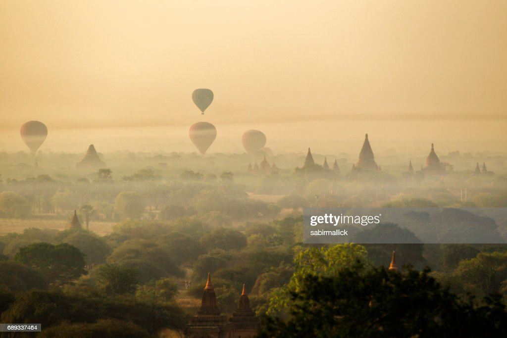 Bagan the land of thousand Pagoda, Myanmar : Stock Photo