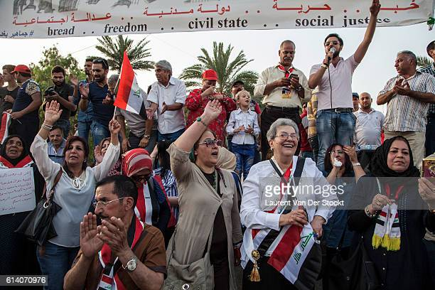 Bagdad Iraq May 6th 2016 'nDemonstration of the civic movement en the Tahrir square'nPhoto Laurent Van der Stockt / Reportage by Getty
