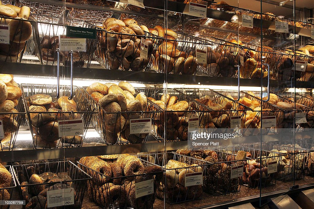 Bagels are displayed for sale at a Manhattan grocery store on August 6, 2010 in New York City. As a result of drought and an outbreak of wildfires that have decimated Russia's wheat crop, U.S. wheat prices have been steadily rising, igniting fears of a global rise of food prices. Russia announced a ban on grain and flour exports yesterday, which will take effect from August 15 to the end of the year. While prices fell slightly in trading today, U.S. wheat futures on the Chicago Board of Trade rose over 20 percent earlier in the week, having nearly doubled since early July to $8.41 a bushel.