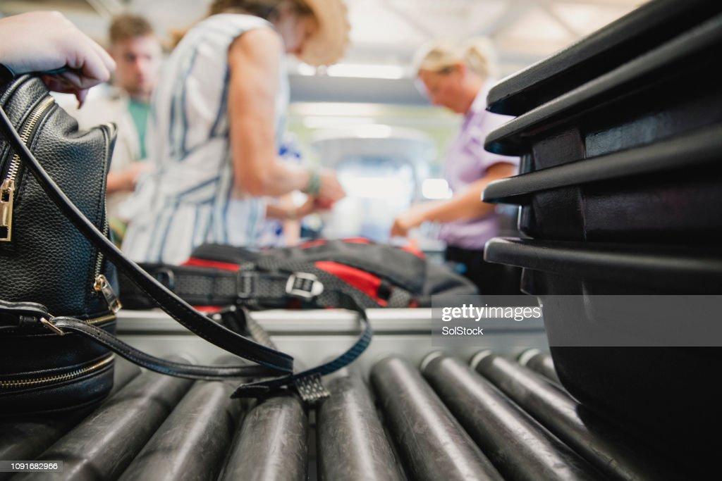 De equipaje en el aeropuerto : Foto de stock