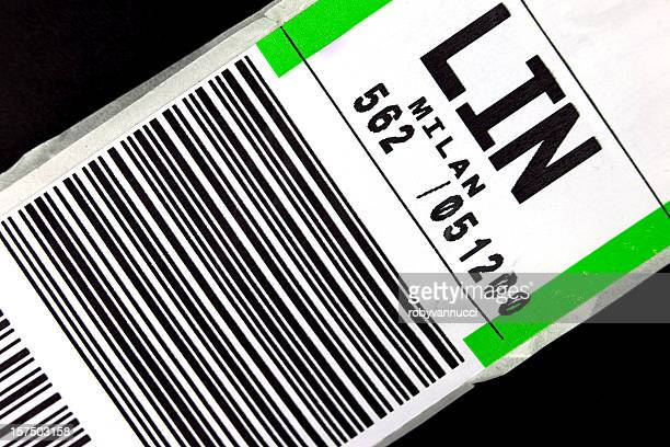 Baggage label for a flight to Milan