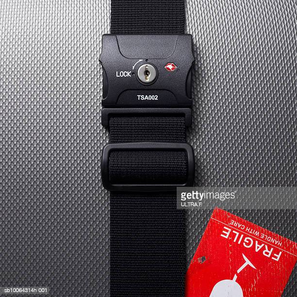 baggage lock, close-up - strap stock photos and pictures