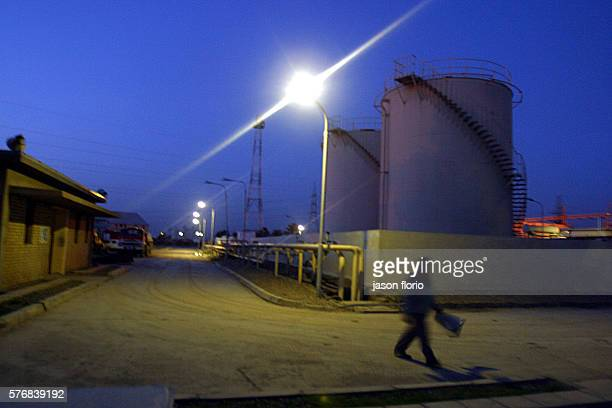 A Baghdad electrical plant glows at night Humanitarian watch groups are fearful of the toll on the civilian population if the US bombs Iraqi energy...