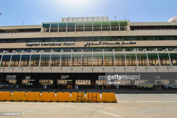 baghdad international airport - baghdad airport stock photos and pictures
