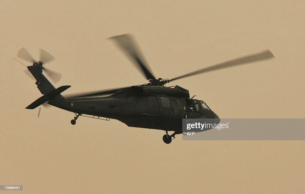 Black Hawk helicopter flies over Baghdad, 24 March 2007  Two