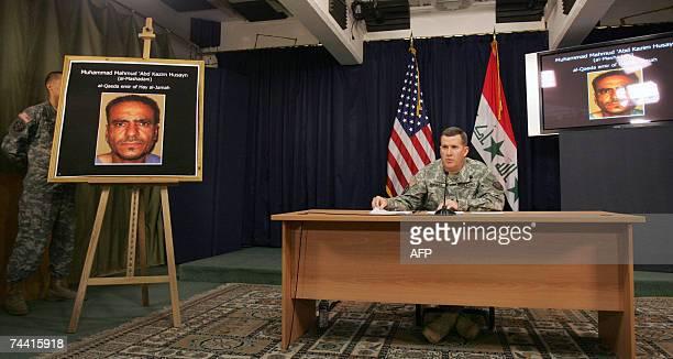 US Brigadier General Kevin J Bergner new MultiNational ForceIraq spokesman speaks during a press conference in Baghdad 06 June 2007 Bergner said...