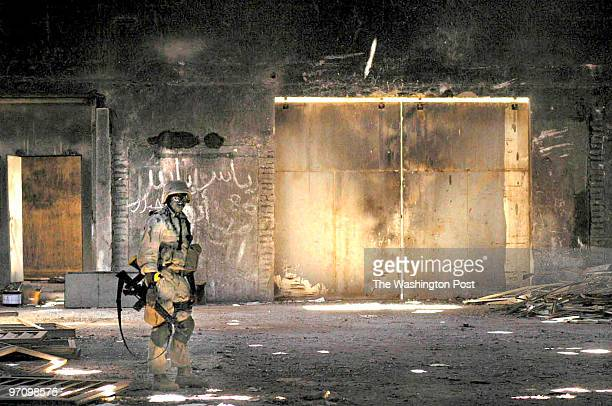 Baghdad Site Survey Team 3 searches an abandoned warehouse in Baghdad for WMDs They found nothing