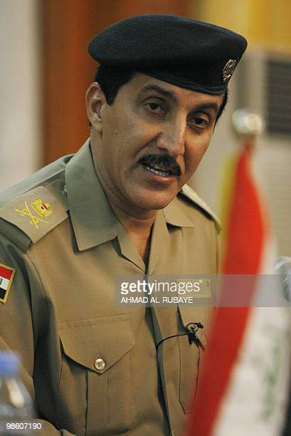 Baghdad's security spokesman Major General Qassim Atta holds a press conference in the Iraqi capital on April 22 2010 The capture of AlQaeda in...