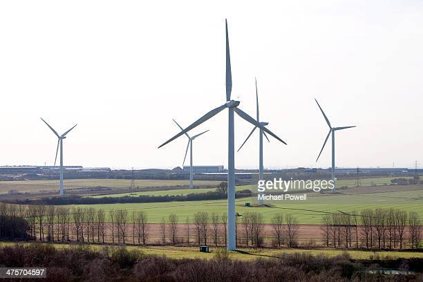 bagmoor windfarm, scunthorpe, uk. - north lincolnshire stock pictures, royalty-free photos & images