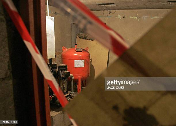 Picture taken 17 February 2006 rue Prokovief in Bagneux an outer southern suburb of Paris of the cellar of a building where Ilan Halimi 23 is...