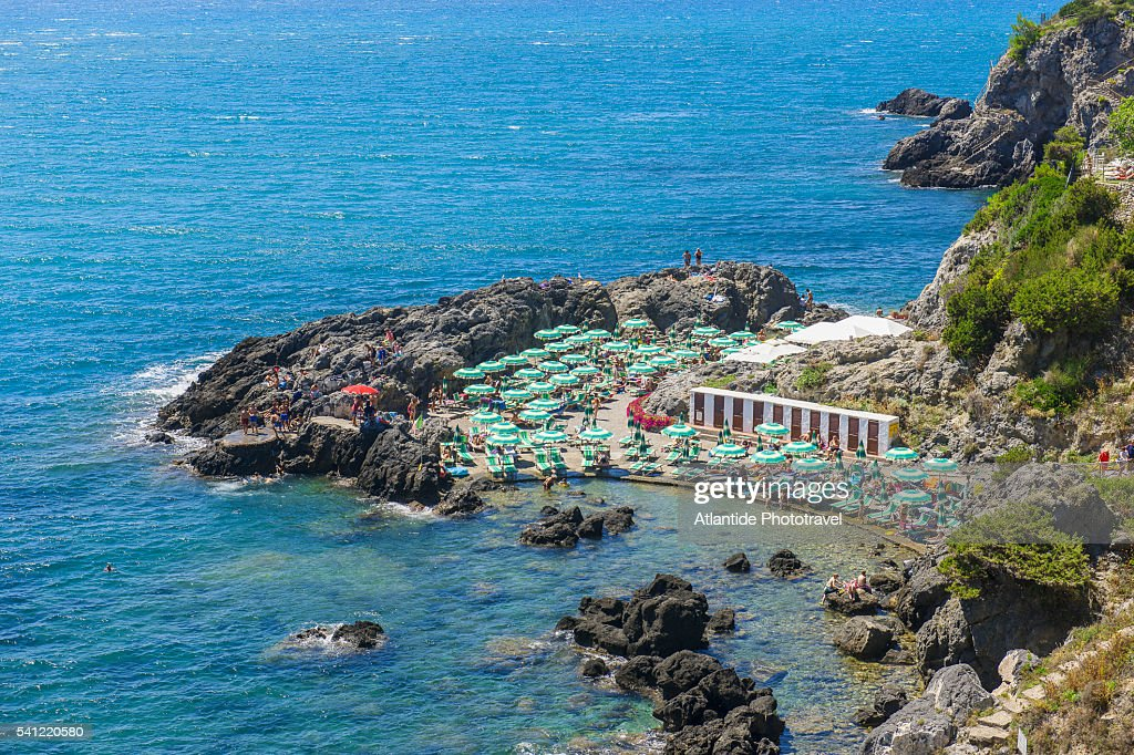 Bagno delle donne beach at talamone stock foto getty images